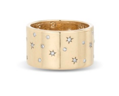 Celestial Diamonds Cigar Ring - 7 - Y14