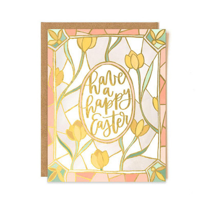 "Gold foil card made in the USA, blank on inside. 4.25"" x 5.5"""