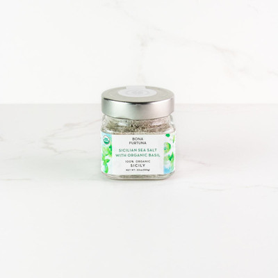 The essential oils from the La Fortuna Estate grown basil are expertly combined with the 100% Pure Sea Salt to create this delicious finishing salt. Perfect addition to light dishes or anywhere you use basil think margarita pizza, caprese salad, the opportunities are endless!