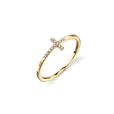 Elongated Bent Cross Ring