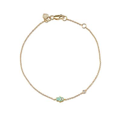 Mini Enamel Hamsa Bracelet