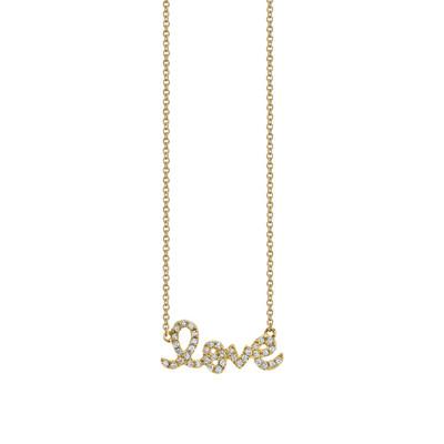 Love Script Pave Necklace - Small