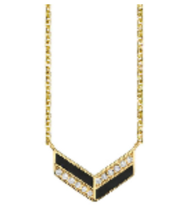 Chevron Enamel Necklace