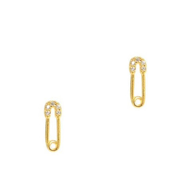 Safety Pin Earring - Gold
