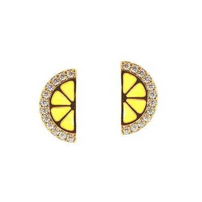 Lemon Slice Stud Earrings