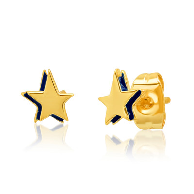 Star Stud w. Navy Enamel Accent
