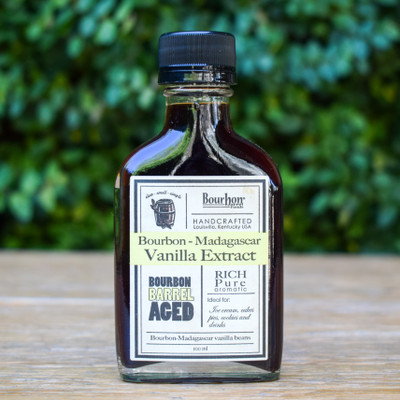 This vanilla extract is perfectly aged in bourbon barrels that once housed some of the finest bourbon in Kentucky. The result is this single-strength extra rich vanilla extract that is sweet and aromatic and will have you never buying another vanilla.
