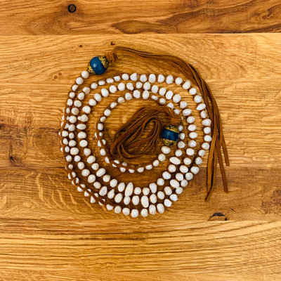 Small White Pearl with Tibetan Turquoise Necklace