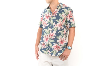 Hibiscus Hawaiian Tropical Atoll Shirt
