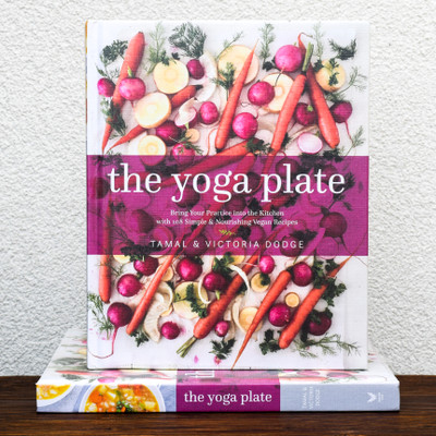 "In The Yoga Plate, LA-based yoga power couple Tamal and Victoria Dodge introduce readers to the philosophy of yoga as it is reflected in our eating choices. The 108 recipes are designed according to the concept of ahimsa, or non-harm. ""Consciously or not, we can cause a lot of harm with our eating habits,"" explain the authors. ""Living with ahimsa means we try to cause the least harm possible to all living creatures."""