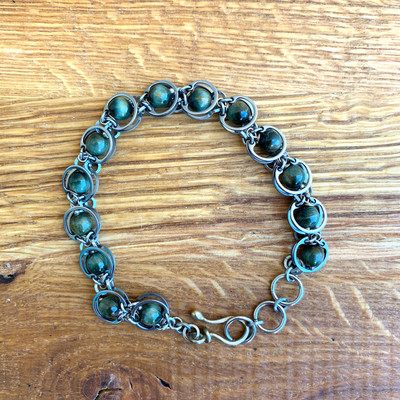 Green Tiger's Eye Bracelet