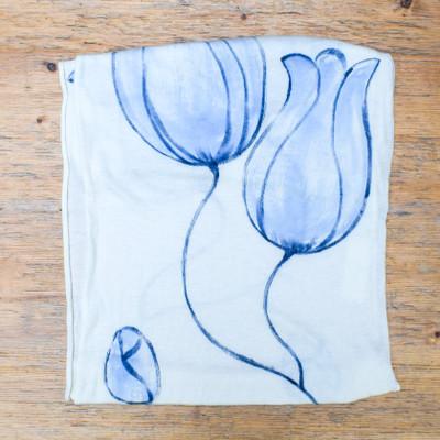 Navy Combo Tulip Shawl