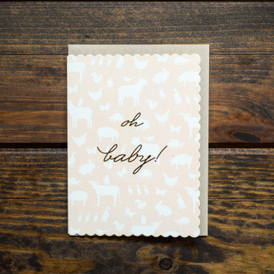 Oh Baby Girl Greeting Card