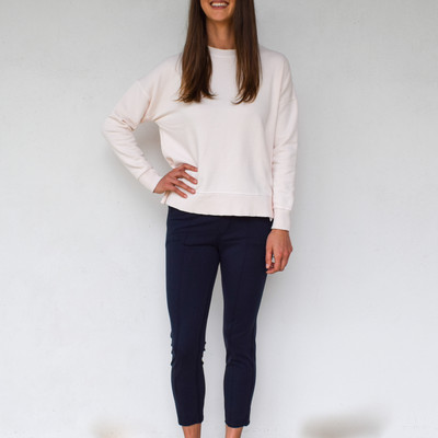 Know that college sweatshirt you never took off? Here's the new and improved version! The Ribbed Knit Pullover is effortlessly chic with a cozy feel you can't beat. Features knit ribbed cuffs and hemline and a classic crewneck, fits true to size but designed to be loose throughout the body.