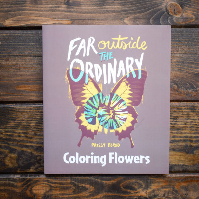 """These Coloring Books for grownups are a perfect companion to her Far Outside the Ordinary memoir. As you color these beautifully designed scenes, you're able to indulge your creative freedom and relax your overworked mind. The book is designed to allow you to choose your favorite colorful marker, gel, pencil, or pen. The heavy stock page is easily removed and fits into a standard 8"""" x 10"""" frame. Each book contains 48 black-and-white drawings, 144 drawings total in the set that you can color to create your own art."""