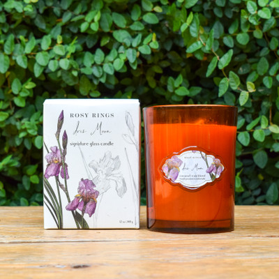 Glass Candle - Iris Moon