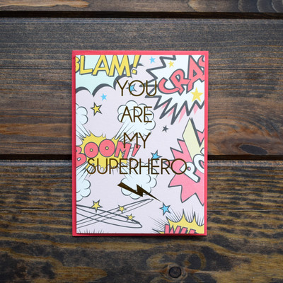 The perfect card for superheroes of all ages. Printed and foiled in Memphis, TN.