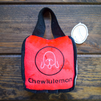 There's no reason your pup can't have as much style as you, this Chewlulemon bag brings them one step closer! A soft plush dog toy with an irresistible squeaker inside, they will be happily entertained for hours!