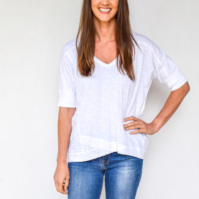 Deep V Elbow Tee