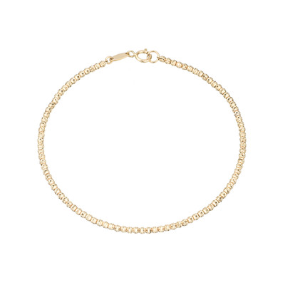Adina Reyter set out to create wearable fine jewelry that you never had to take off. This Tiny Bead Chain bracelet is the epitome of her mission, the classic gold beads give you a little bit of shimmer and lay nicely with any other bracelets or watches that are already in your rotation.