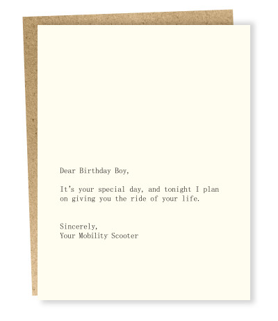 Dear Blank Card - Birthday Boy/Scooter