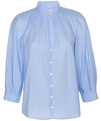 Pleated V Neck