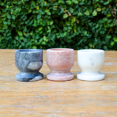 Breakfast is getting a makeover! These Marble Egg Cups are the perfect addition to any table they perfectly hold you boiled eggs to make for easy scooping and enjoyment!