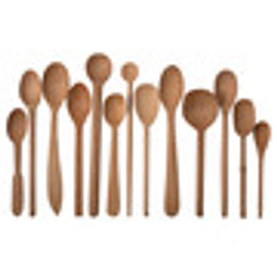 Assorted Baker's Dozen Wood Spoons