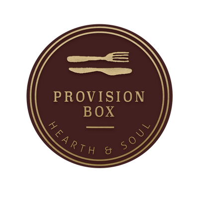 The Provision Box brings some of the Hearth and Soul favorites straight to your kitchen! Inside you will find five of our top provisions all accompanied with a serving card. Packaged together the Provision Box is an excellent gift!