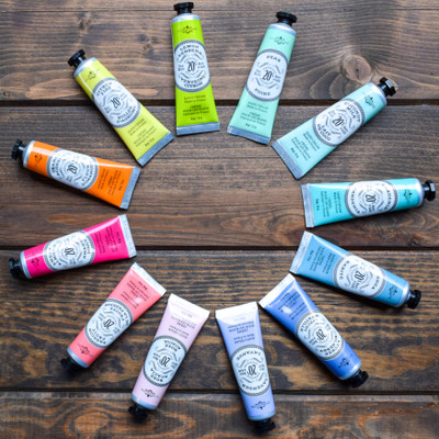 The perfect little pick me up! Made from the highest quality ingredients these clean hand creams will leave you skin feel rejuvenated, hydrated, and fresh. The 1 oz size makes it easy to throw in your purse or add on as a gift!