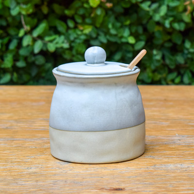 Sugar Pot w. Lid & Spoon