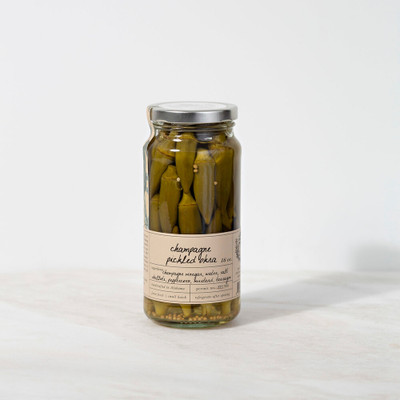 Champagne Pickled Okra