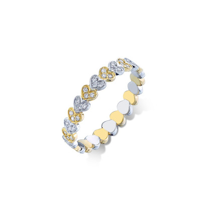 Tiny Heart Eternity Ring - 6.5