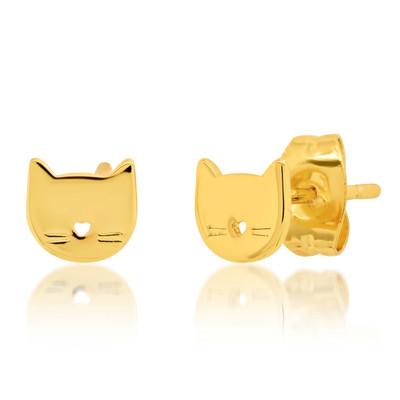 Cat Studs - Gold