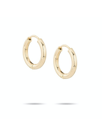 Tube Hoop - 15mm - 14k Yellow Gold