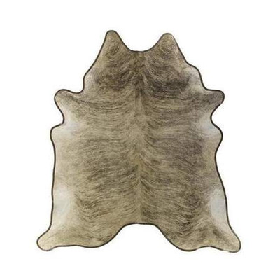 Cowhide Rug w. Leather Trim