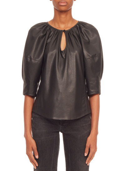 Vegan Leather Blouse
