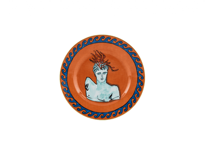 Neptune's Voyage Dessert Plate - Rock Orange