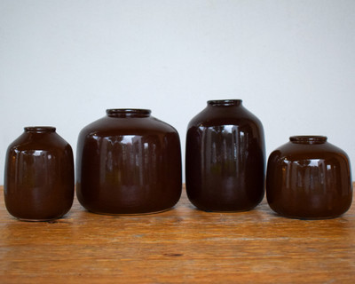 Dark Brown Glazed Vase