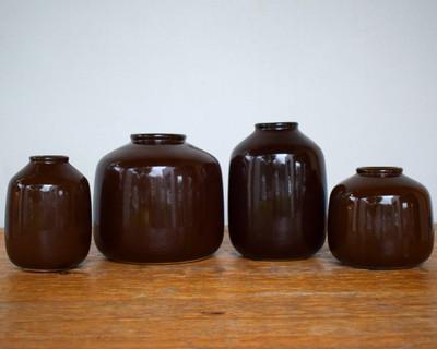 Dark Brown Glazed Vase