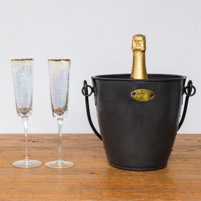 The perfect amount of glam for any cocktail! These Aperitivo Luster Glasses feature a subtle luminescent finish and a gold rim, the perfect compliment to your favorite bubbly, cocktail, or shot! They are also great on a charcuterie board, holding a dessert or just decoration your bar cart.