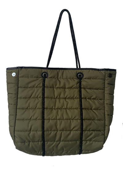 Puffy Tote w. Rop Handles