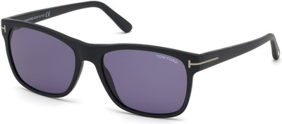 Tom Ford - Giulio Sunglasses - Matte Black/Blue Smoke Lenses