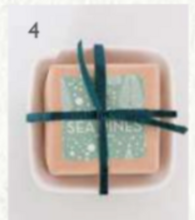 Bar Soap in Ceramic Dish - Sea Pines