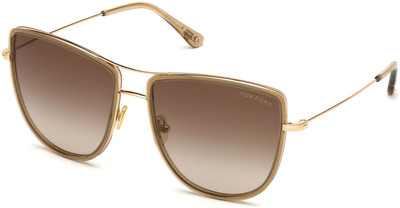 Tina Sunglasses - Shiny Rose Gold with Rose Champagne