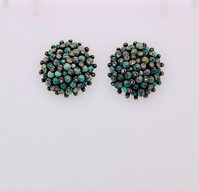 Urchin Stud Earrings - African Turquoise