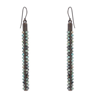 Column Earrings - African Turquoise