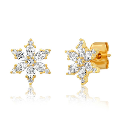 Snowflake Studs - Gold