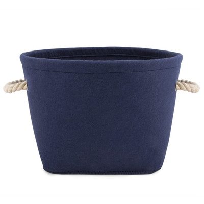 Toy Storage Bin - Navy Felt
