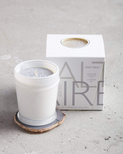 Boxed Candle w. Coaster - Saltaire - Agate Coaster